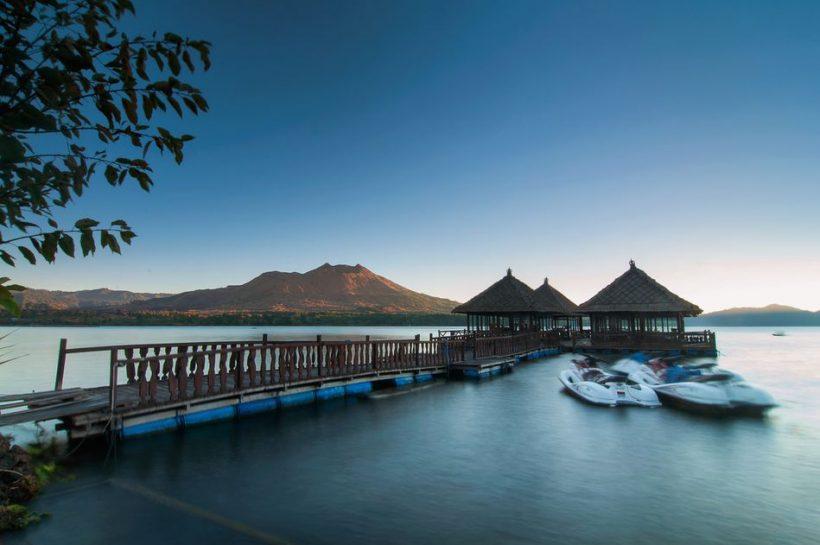 Visiting Kintamani en Mount Batur in Bali, Indonesië