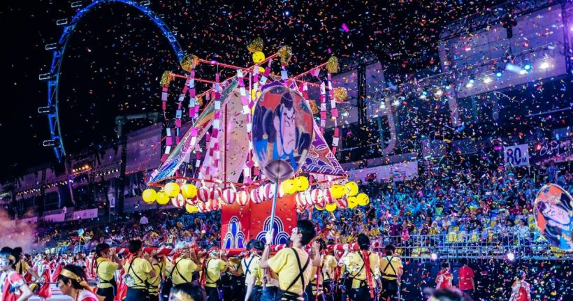 Singaporen Chingay Parade - kohokohta Kiinalainen uusivuosi