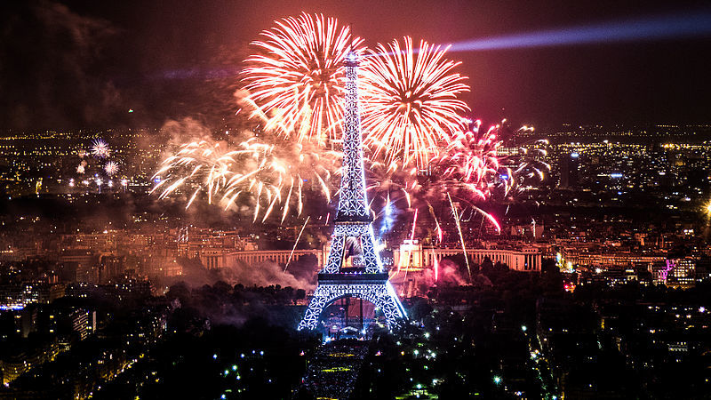 Ünneplő Bastille Day in Paris