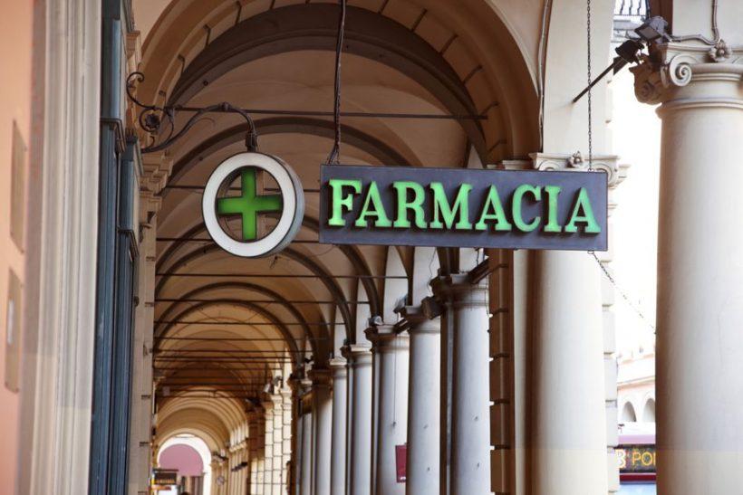 Información de Farmacia italiana para turistas