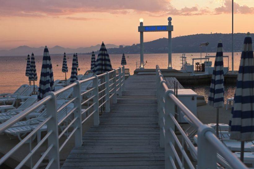 Juan-les-Pins sur la Côte d'Azur