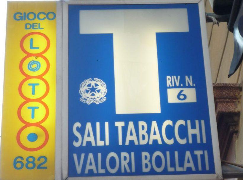 Magasins Tabacchi et tabac en Italie