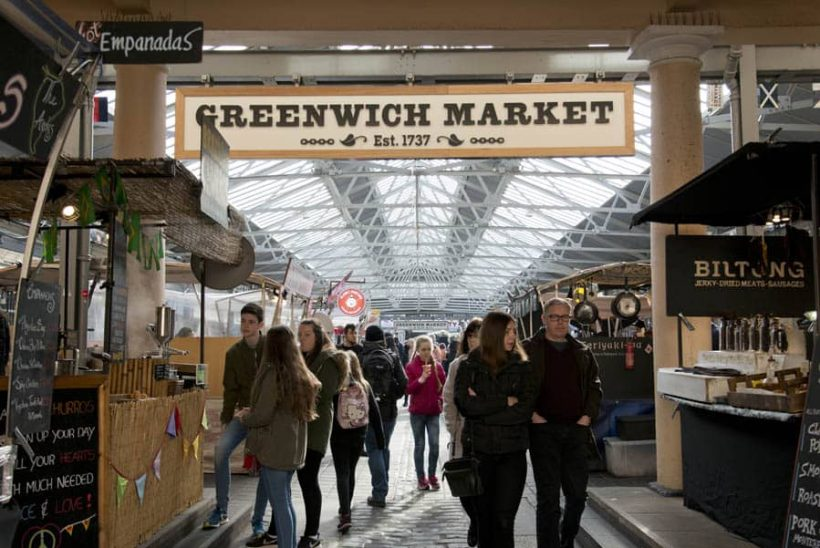 Besöker Greenwich Market i London