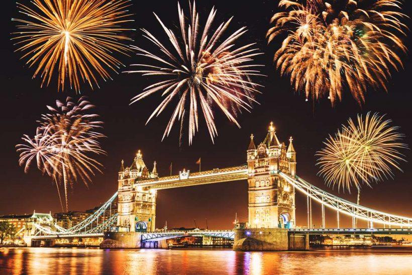 Silvestrovo v Londonu: Ognjemeti, stranke in Križarjenja