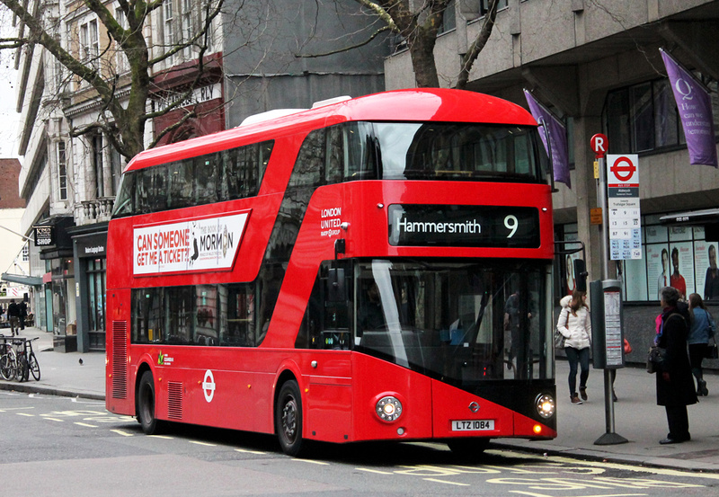 Londen Number 9 Bus Route Highlights
