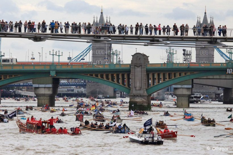 Hvor å se Londons Great River Race