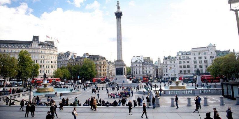 Kaj vidimo na londonskem Trafalgar Square
