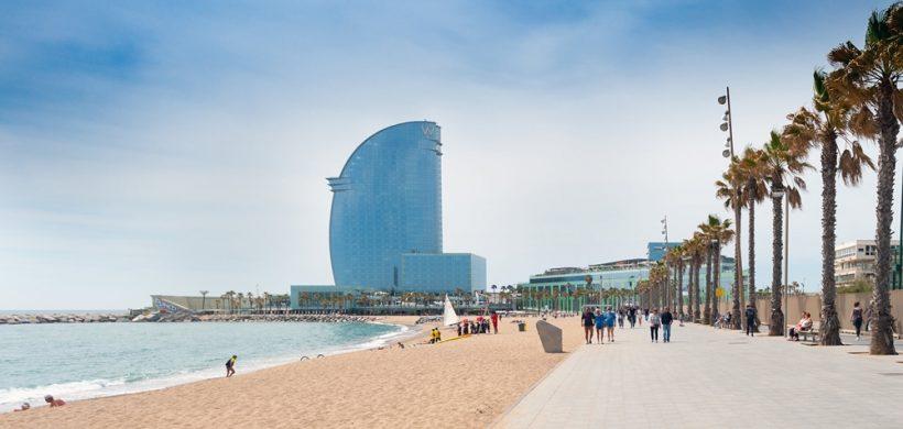 חופים למעלה בברצלונה, ספרד