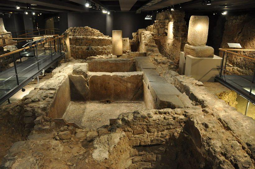 Feltárása Roman Ruins Barcelona