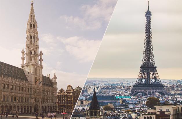 Como viajar De Bruxelas para Paris? Voos, trens e Opções de aluguer de viaturas