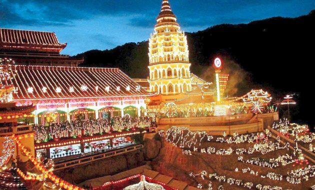 Fira kinesiska nyåret i Penang, Malaysia