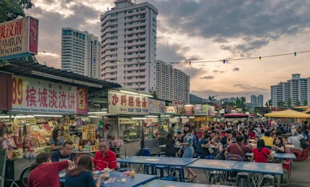 Guide til Street Food på Gurney Drive i Penang Malaysia