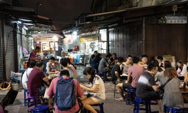 Ko ēst Chulia Street Night Market in Penang, Malaizija